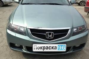 Honda Accord (7th generation) 2007 покраска и ремонт заднего и переднего бамперов и заднего левого крыла 20130812