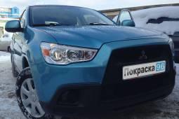 Mitsubishi ASX 2012 (Митсубиши АСХ), цвет голубой ксералик, ремонт покраска заднего правого крыла, ремонт покраска задней правой двери, ремонт покраска переднего правого крыла, ремонт покраска переднего левого крыла.