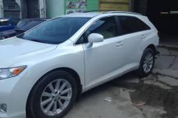 Toyota Venza 2013 (Тойота Венза). Цвет белый перламутр, замена и прокраска заднего бампера, ремонт и покраска задней левой двери, ремонт и покраска заднего левого крыла