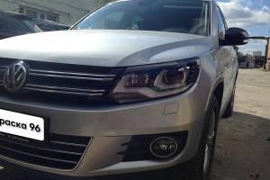 Volkswagen Tiguan 2012 ремонт и локальная покраска заднего бампера 20141110