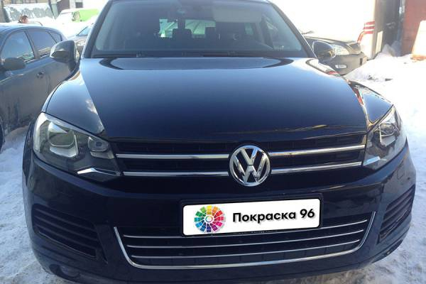 Volkswagen Touareg 2nd generation 2011 ремонт и покраска заднего правого крыла 201411