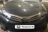 Toyota Corolla 160 2014 ремонт и покраска переднего левого крыла, капота, замена и покраска переднего бампера, 201411