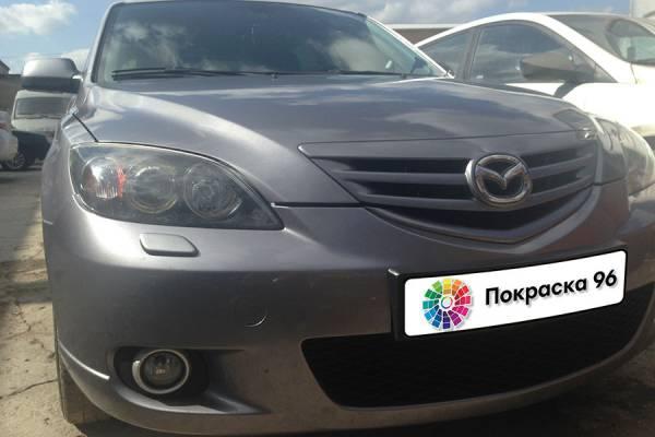 Mazda 3 1st generation 2008 ремонт и локальная покраска заднего правого крыла, заднего бампера 201411