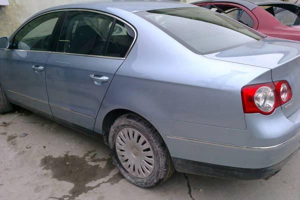 VW Passat B6 2008 ремонт и покраска заднего левого крыла - 20120515