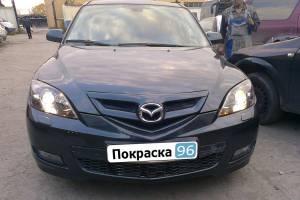 Mazda 3 2008 восстановление геометрии кузова, покраска передней части - 20120712