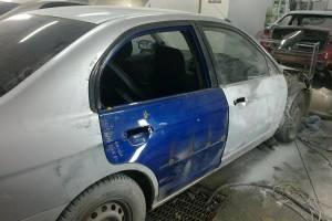 Honda Civic Ferio (7th generation) 2005 ремонт и покраска правых дверей и крыльев 20121114
