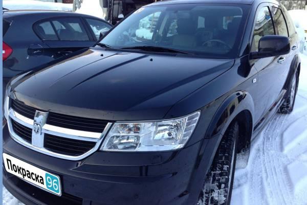 Dodge Journey 2012 кузовной ремонт задней левой двери, заднего левого крыла и левого зеркала с покраской 20130204