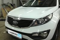 KIA Sportage (3rd generation) 2012 замена и покраска бампера, брызговиков и нижней юбки 20130309