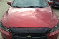 Mitsubishi Lancer X 2010 ремонт и покраска капота и крышки багажника