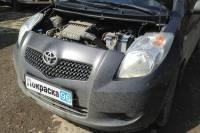 Toyota Vitz (90) 2010 ремонт и покраска задней крышки багажника, замена заднего стекла