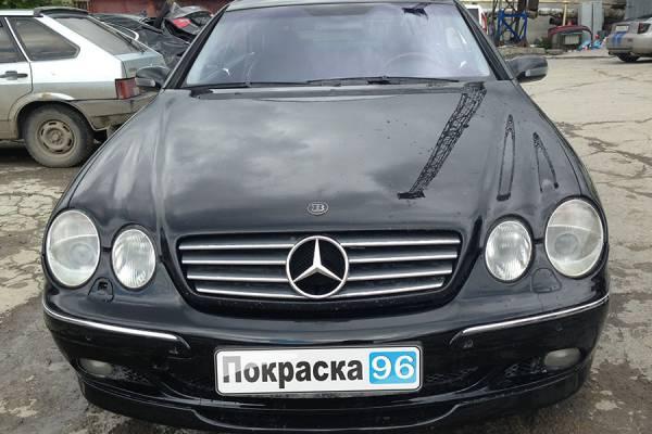 Mercedes-Benz CL 55 AMG 2001 ремонт и покраска переднего бампера, переднего левого крыла и левой двери 20130603