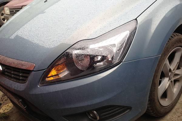 Ford Focus II 2009 ремонт и покраска заднего бампера, заднего правого крыла 20130617
