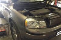 Volvo XC90 ремонт и покраска правых дверей, задней левой двери, заднего левого крыла, ремонт дверных молдингов